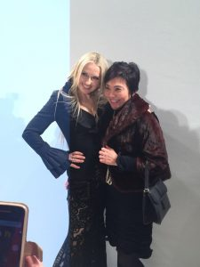 Toshiko with Olga Roh, designer and owner of Rohmir